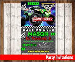 monster invitation 50 off sale monster jam invitation monster jam birthday invitation