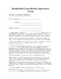 Letter Of Intent For Commercial Real Estate by California House Lease Agreement Form Property Rentals Direct