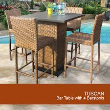 outdoor wicker pub table set pub table and stools