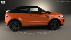 orange range rover evoque 360 view of land rover range rover evoque convertible 2016 3d