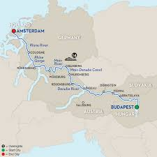 Map Of European Rivers by German River Cruises Avalon Waterways