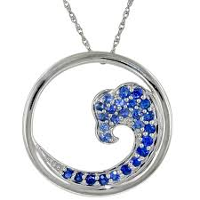necklace with sapphire images Graduated sapphire wave necklace in 14kt white gold jpg