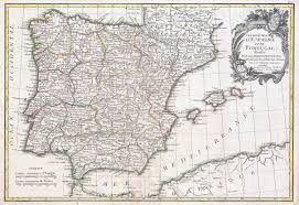 Map Of Spain With Cities by Large Detailed Old Political And Administrative Map Of Spain And