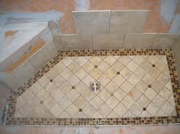 Shower Floor Mosaic Tiles by Shower Floor Tile Wrapping Bathroom Interior In Chic Layouts