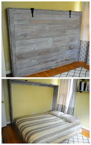 Diy Folding Bed White Rustic Sized Wall Bed Diy Projects