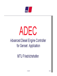 adec advanced diesel engine controller for genset application