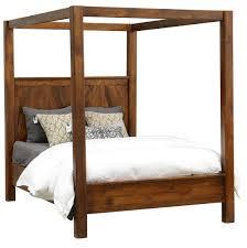 kosas solid wood queen canopy bed frame zin home