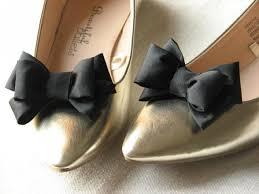 black shoe clips black shoe bows shoe clip black shoes gift idea