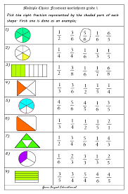 use of multiple choice questions in fractions worksheets cool
