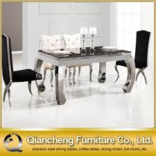 stainless steel dining table with chairs stainless steel dining