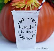 personalized soft sided plastic cups for thanksgiving