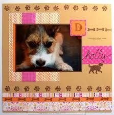 Dog Scrapbook Album Stampin U0027 Mama A Mama That Stamps D Is For Dog Scrapbook Page