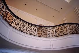 Wrought Iron Railings Interior Stairs Wrought Iron Stair Railing Custom Design For Special Interior