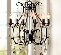 Black Metal Chandeliers Chandeliers Pottery Barn