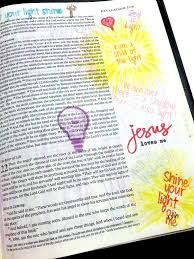 Let Your Light Shine Down Let The Light Shine Bible Journaling Clear Stamps