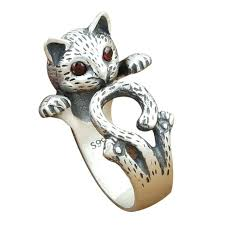 antique cat ring holder images Cat silver ring 5 of 6 vintage sleeping kitty cat sterling silver jpg
