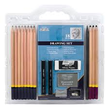 amazon com pro art 18 piece sketch draw pencil set arts crafts