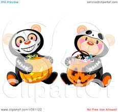 Halloween Skeleton Clip Art Clipart Halloween Skeleton Teddy Bears Holding A Jackolantern