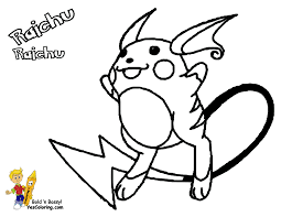 raichu coloring pages raichu coloring page interesting pokemon