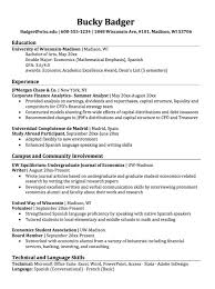 Sample Resume Language Skills by Double Major Economics Resume Sample Http Resumesdesign Com