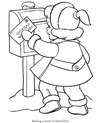 christmas letter santa claus coloring