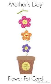 mother u0027s day flower pot card artzycreations com