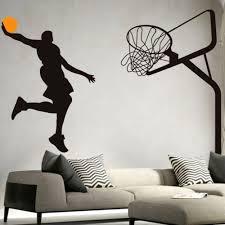 high quality wholesale basketball wall murals from china basketball dunk sport wall art decal vinyl removable wall sticker pvc wall mural wall art decal