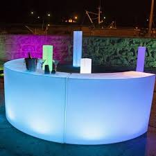 party furniture rental led bar hire modular battery powered circular led bar hire in