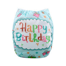 2017 1 happy birthday cake gift baby pocket cloth diaper nappy 1