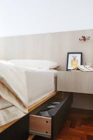 headboard with built in bedside tables bedroom design ideas 10 modern built in bed frame and nightstand