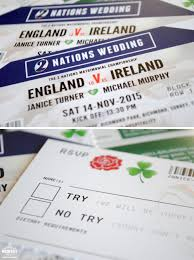 wedding invitations ireland ireland vs rugby ticket wedding invitations wedfest