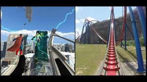 Superman Ride Six Flags This Changes Everything Superman Krypton Virtual Reality Coaster