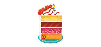target birthday cake gift card illustration by jolby friends
