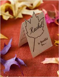 lovely last minute diy thanksgiving place cards