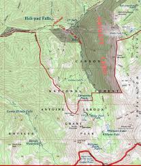 Map Of Taos New Mexico by Blake Fork Falls Dougscottart Com