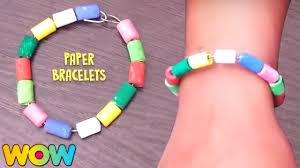 how to make paper bracelets easy paper crafts diy for kids