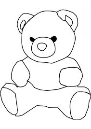 teddy bear coloring pages print 716ag