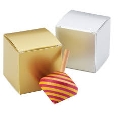 metallic cube gift box the container store