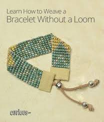 bead weave bracelet images How to weave a bracelet without a loom jpg