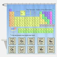 Periodic Table Shower Curtain Big Bang Theory Science Humor Shower Curtains Science Humor Fabric Shower