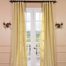 Yellow Faux Silk Curtains Ruched Faux Silk Hallman Curtains Are Beautifully Made And