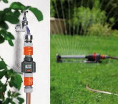 gardena garden hose water flow meter the green head