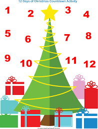 christmas countdown calendar 12 days of christmas countdown calendar kidscanhavefun
