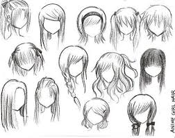 anime hairstyles for girls sketch u2013 hd wallpaper gallery