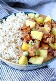 cuisiner le tofu nature peanut butter pineapple tofu rice vegan gluten free