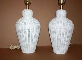 Wicker Table Lamp Table Lamp Wicker Table Lamp Shades Vintage Pair White Lamps