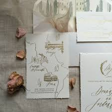 paper invitations destination wedding invitations tuscan invitations gold foil