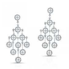 diamond chandelier earrings deco style diamond chandelier earrings