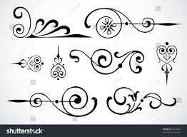 vector swirl ornaments stock vector 32229670