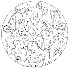 mandala domandalas flowers butterflies mandalas coloring pages